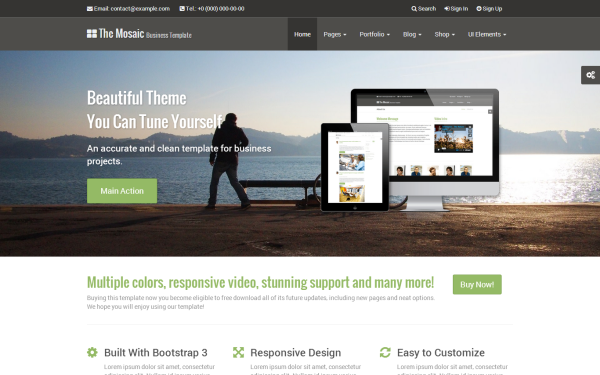 Mosaic - Responsive Professional Theme