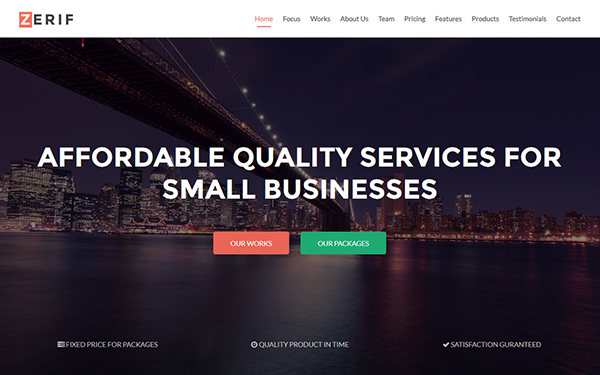 Zerif - One Page HTML Template