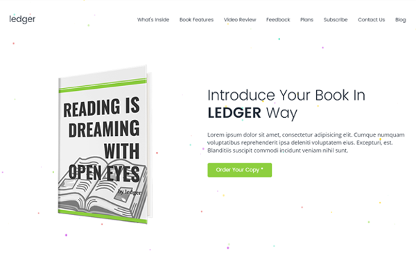 Ledger - Book Landing Page