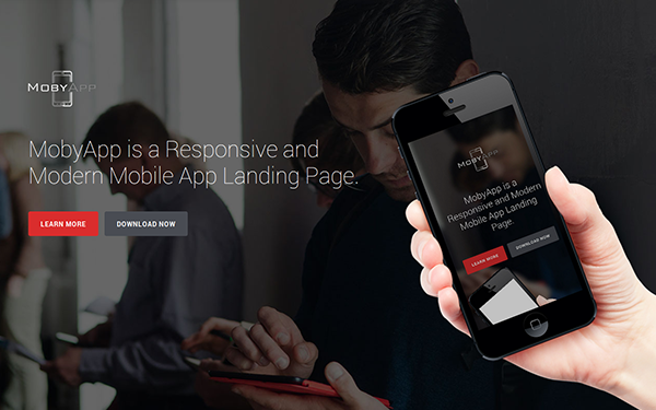 MobyApp - Landing Page Template