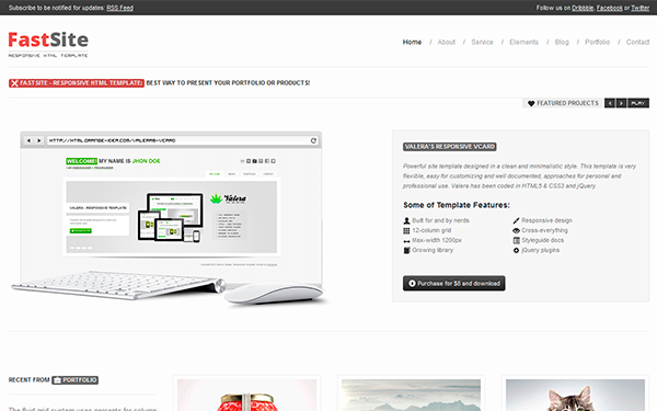 FastSite - Responsive HTML Template - Live Preview - WrapBootstrap