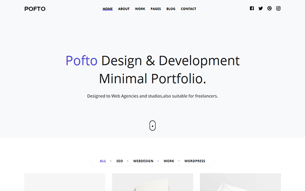 [DOWNLOAD] - Pofto - Responsive Minimal Template