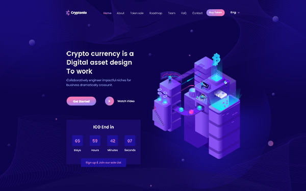 DOWNLOAD - Cryptonio - Cryptocurrency HTML Template
