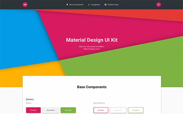 MDUI - Material Design UI Kit