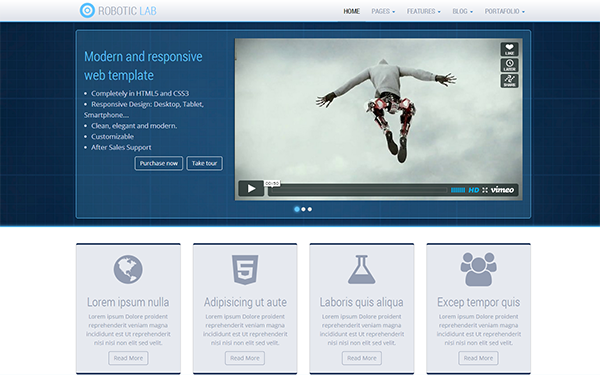 Full Site Templates - Robotic Lab - <p>corporate web solution</p>