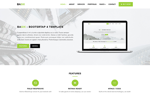 DOWNLOAD - BASIX - Multipurpose Bootstrap Template