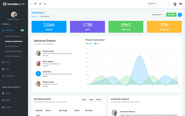 DOWNLOAD - Monstrous - Bootstrap 4 Admin Template