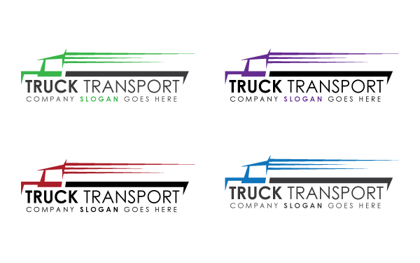 Truck Transport Logo Template