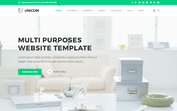 Unicom Responsive Mega Pack Template - Live Preview - WrapBootstrap