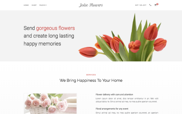 [DOWNLOAD] - Jolie Flowers - Flower Shop Bootstrap Theme