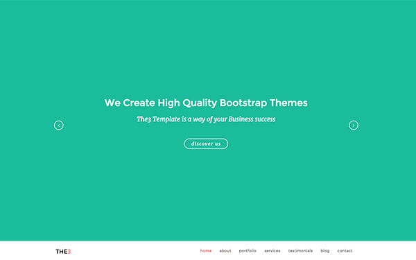 THE3 - Responsive One Page Template - Live Preview - WrapBootstrap