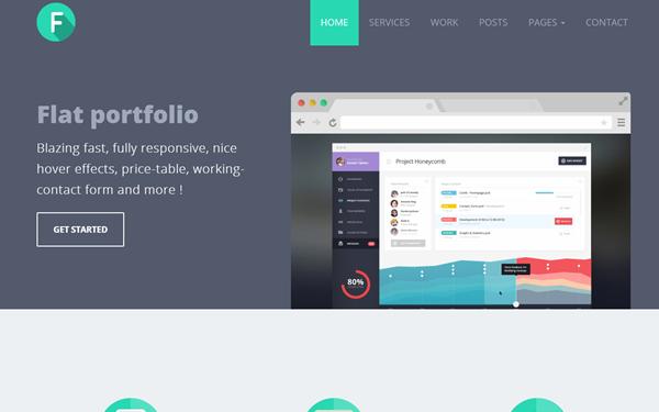 Flanzo | Flat Responsive Portfolio - Live Preview - WrapBootstrap