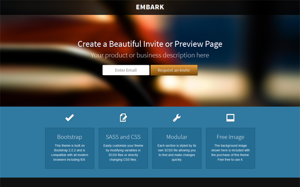 Embark - Early Access and Invite Theme