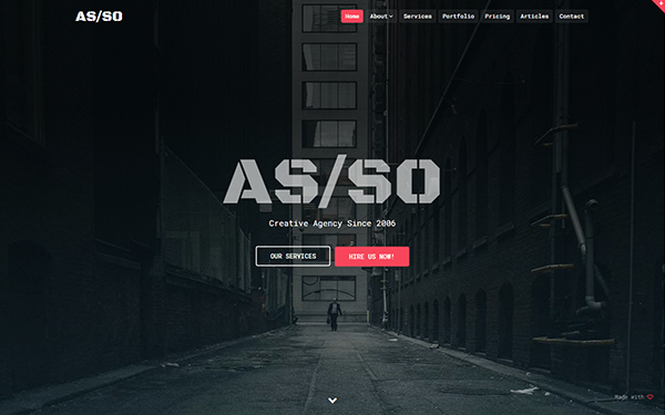 Asso One Page HTML Website Template WrapBootstrap - Html5 web page template