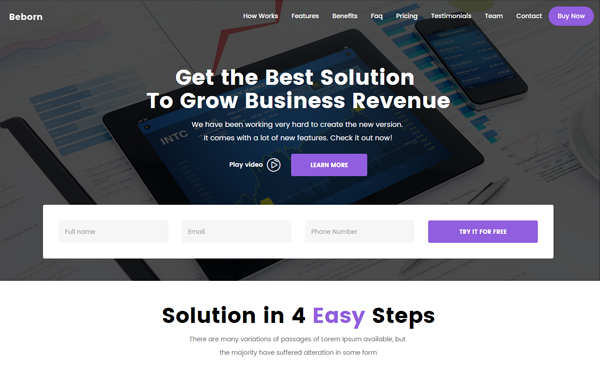 DOWNLOAD - Beborn - Multipurpose Landing Page