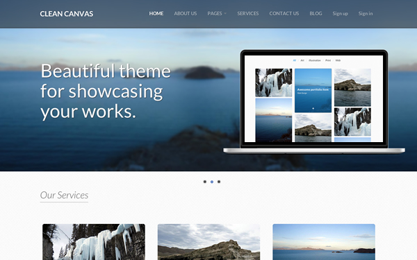Clean Canvas - Business Theme - Live Preview - WrapBootstrap