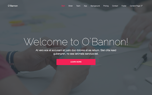 O'Bannon -  Multipurpose Template - Live Preview - WrapBootstrap