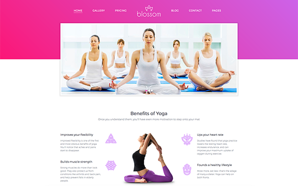 DOWNLOAD - Blossom - Health and Yoga HTML Template