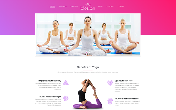 DOWNLOAD - Blossom - Health and Yoga WP Theme