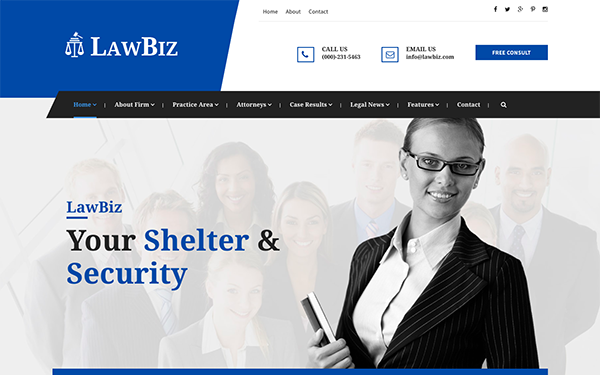 DOWNLOAD - LawBiz - Lawyer Attorney Html Template