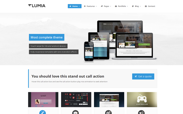 Lumia - Clean Complete Business Theme - Live Preview - WrapBootstrap