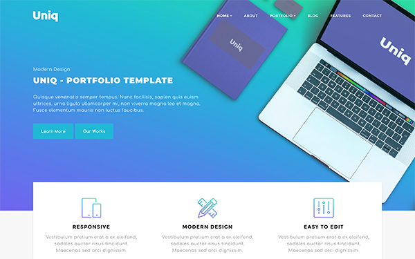 [DOWNLOAD] - Uniq - Portfolio Template