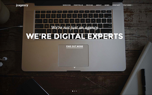JC Agency - One Page Responsive Theme