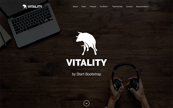 Vitality - One Page Bootstrap 4 Theme