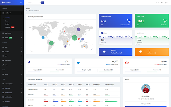 Flash Able - Bootstrap 4 Admin Template