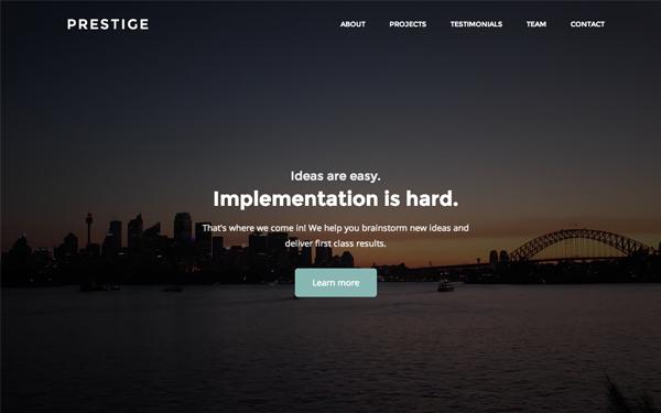 Prestige | Classy Multi-purpose Template - Live Preview - WrapBootstrap