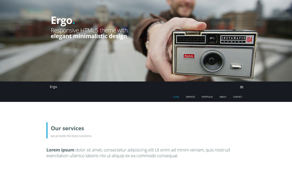Ergo - One Page Theme - Live Preview - WrapBootstrap
