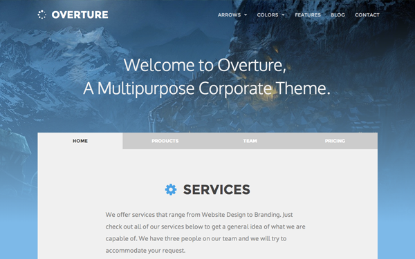 Overture - Responsive Corporate Theme - Live Preview - WrapBootstrap
