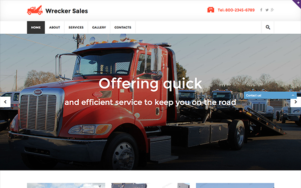 DOWNLOAD - Wrecker - Responsive Website Template