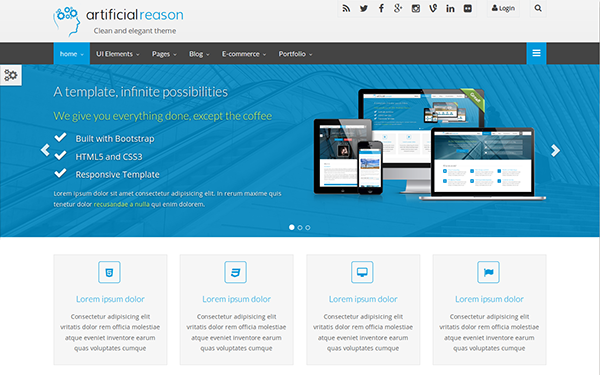 Artificial Reason - Responsive Full Pack | Bootstrap Business ...