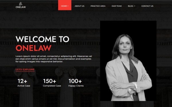 ONELAW - Onepage Template for Lawyers