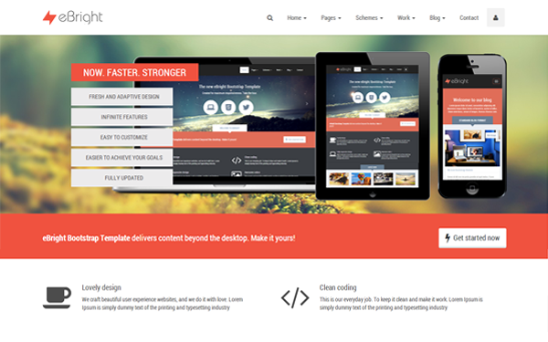 eBright - Responsive WebsiteTemplate - Live Preview - WrapBootstrap