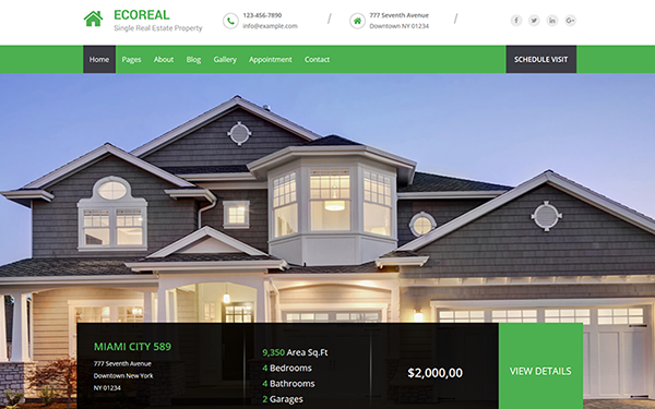 ecoreal html5 real estate template wrapbootstrap
