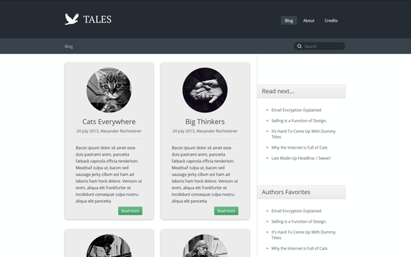 Tales - Responsive Blog Theme - Live Preview - WrapBootstrap