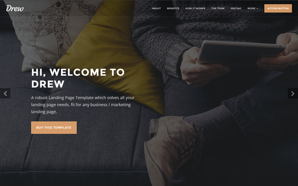 Drew - All in One Marketing Landing Page