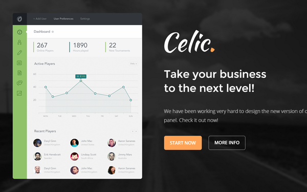 Celic - Multi-purpose Landing Page - Live Preview - WrapBootstrap
