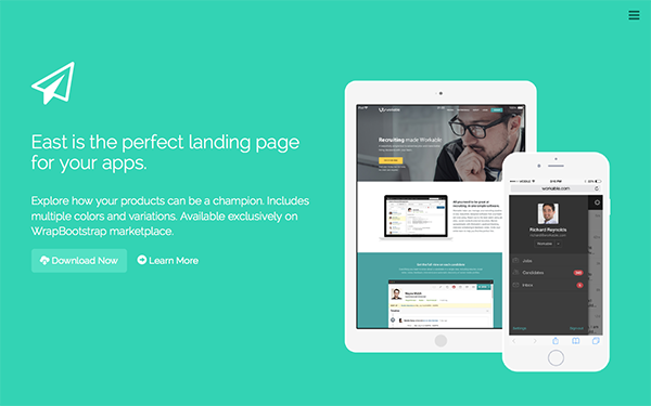 Ultimate Flat - Onepage Template - Live Preview - WrapBootstrap