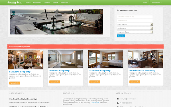 RealtyInc. Real Estate Template