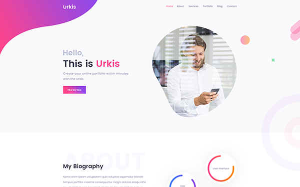 DOWNLOAD - Urkis - Portfolio/Resume BS4 Template