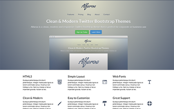Alfaroa - Live Preview - WrapBootstrap