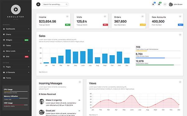 [DOWNLOAD] - Angulator - Bootstrap4 Admin Dashboard