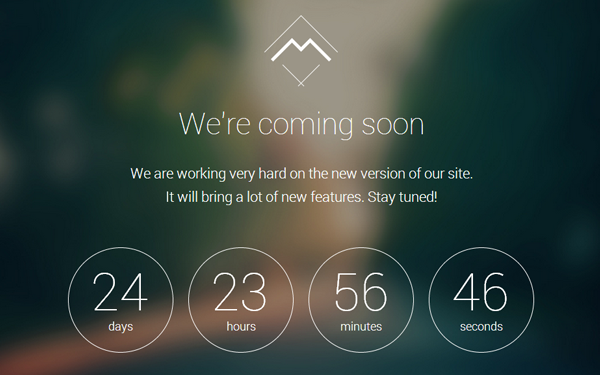 Mira coming soon landing page wrapbootstrap for Simple under construction html template