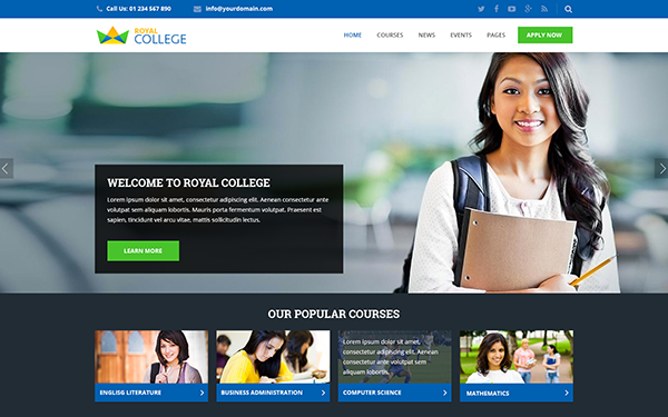 royal multipurpose education template wrapbootstrap