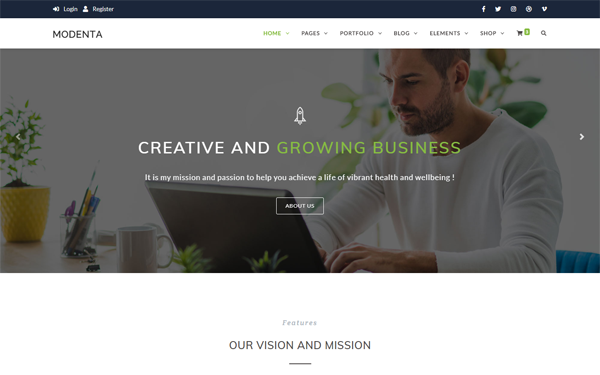 DOWNLOAD - Modenta - HTML5 Personal Blog Template
