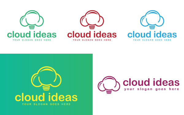 Cloud Ideas Logo Template