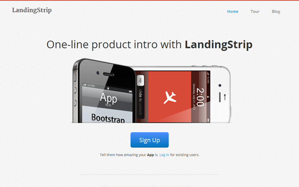 LandingStrip - Landing Page - Live Preview - WrapBootstrap